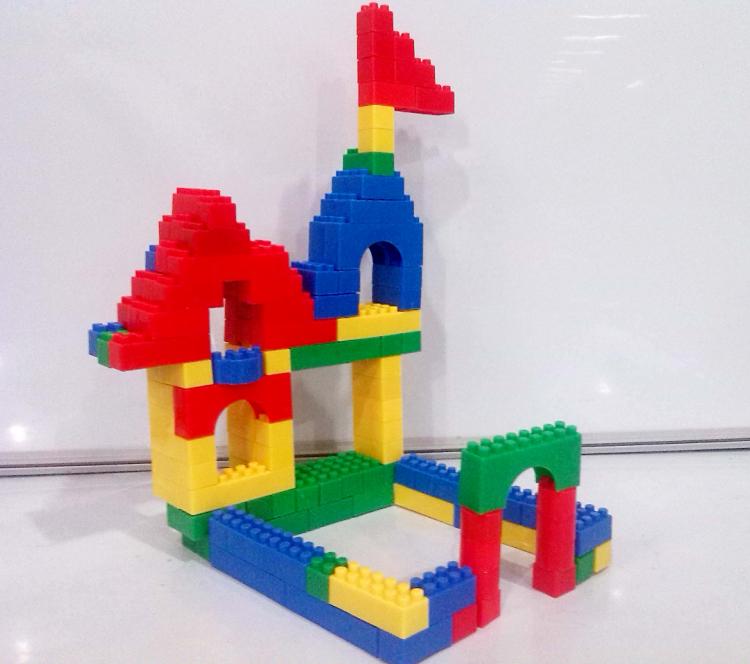 乐高式大颗粒积木大块塑料儿童益智拼插宝宝启蒙拼装