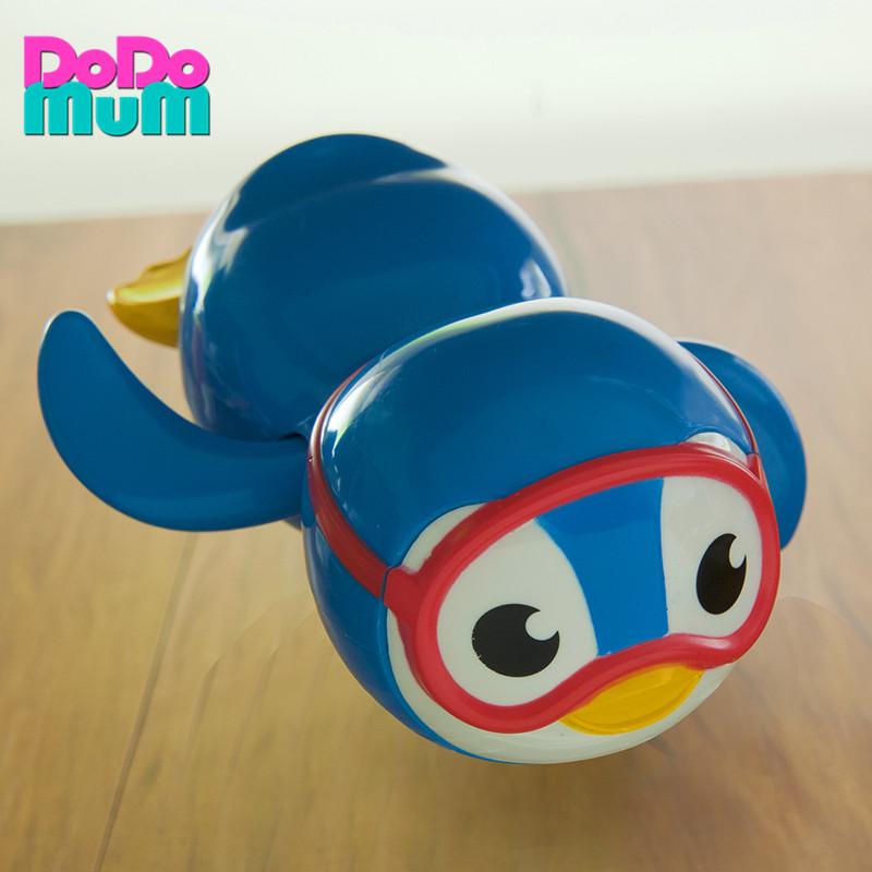 美国munchkin麦肯齐发条玩具 可爱企鹅游泳儿童洗澡玩具 宝宝戏水