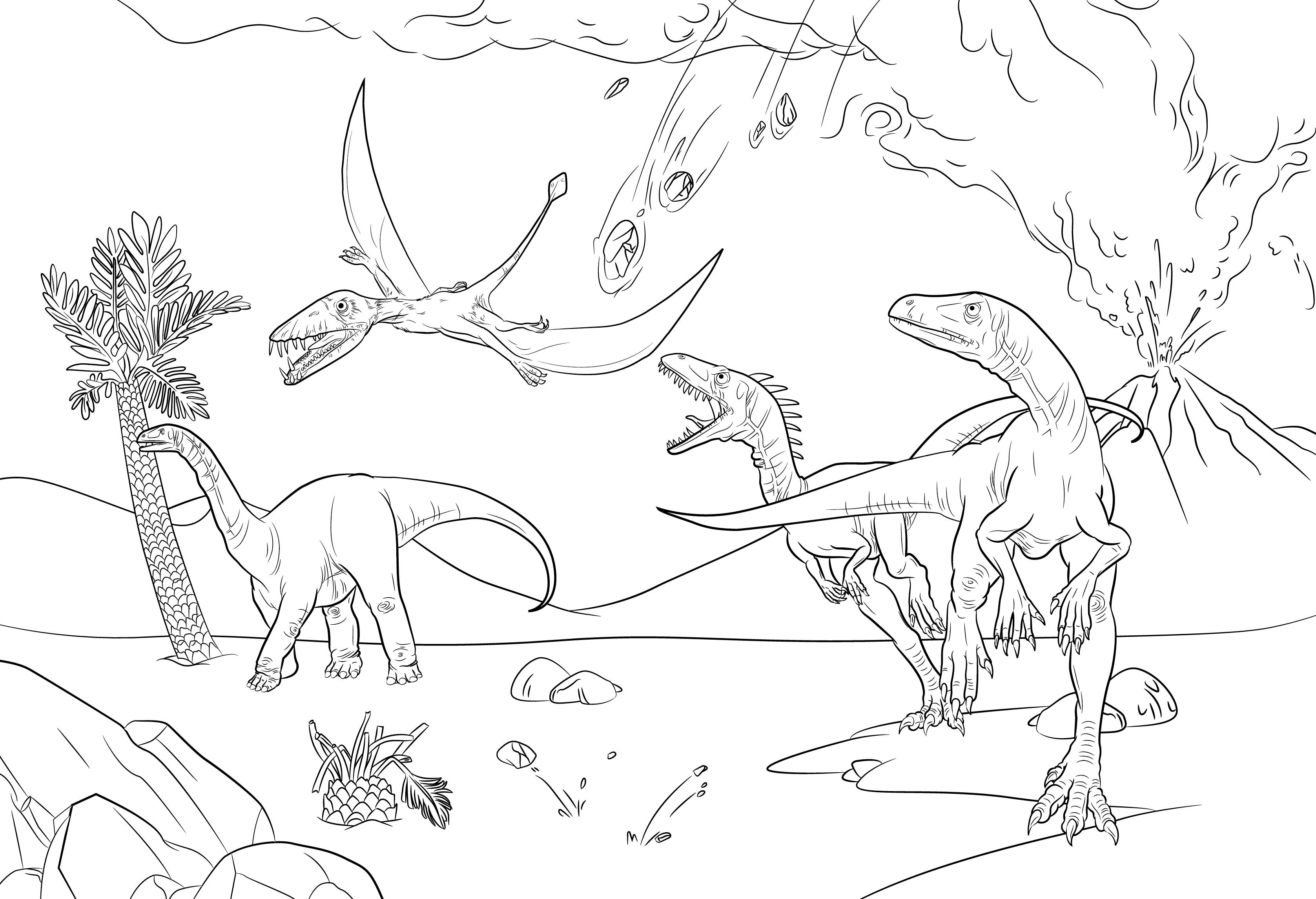 恐龙涂色书 儿童画画书 涂色本绘画幼儿园宝宝学画画儿童版0-2-3-6-7