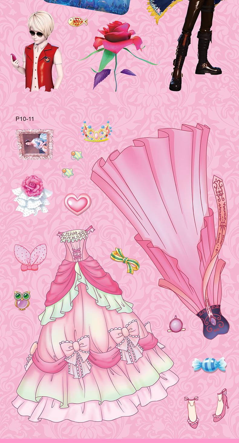叶罗丽精灵梦换装贴纸书公主贴贴画3-4-5-6-7-8周岁儿童女孩益智图片