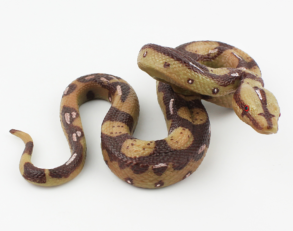 大蟒蛇 大号儿童仿真动物玩具假蛇模型野生动物毒蛇盘旋男孩礼物