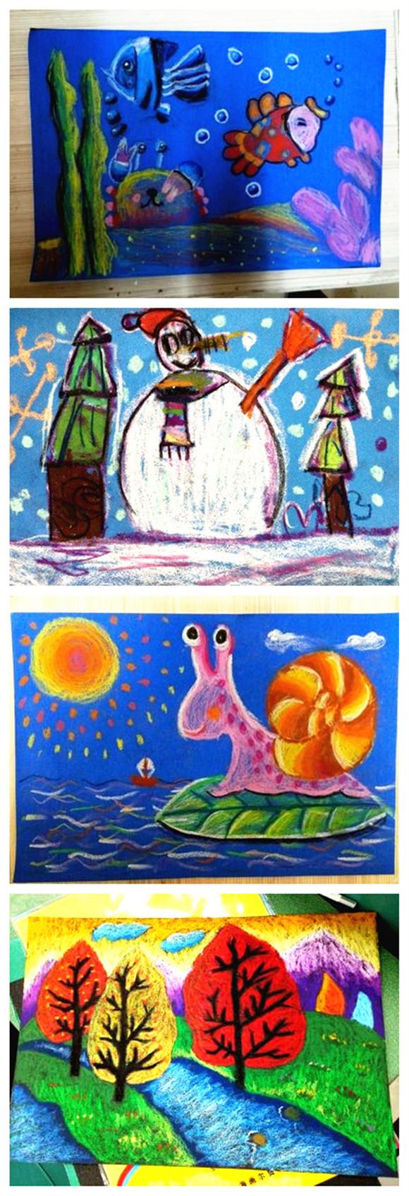 8k4開16k彩砂紙彩色砂畫紙兒童創意美術涂鴉油畫棒蠟筆繪畫紙圖片