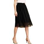 黑色波点雪纺半身裙