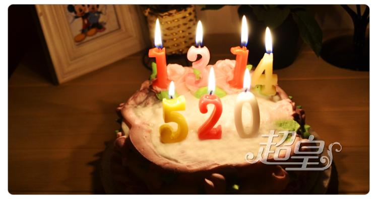 创意生日快乐蜡烛 浪漫生日蛋糕用字母数字蜡烛 彩色火焰生日蜡烛