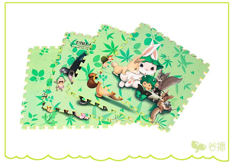 谷播 韩国多丽森林精灵卡通拼接爬爬垫 新生儿游戏地垫爆款促销