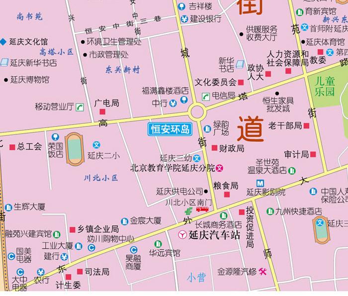 北京郊区交通旅游地图系列:延庆区交通旅游图 中国地图出版社