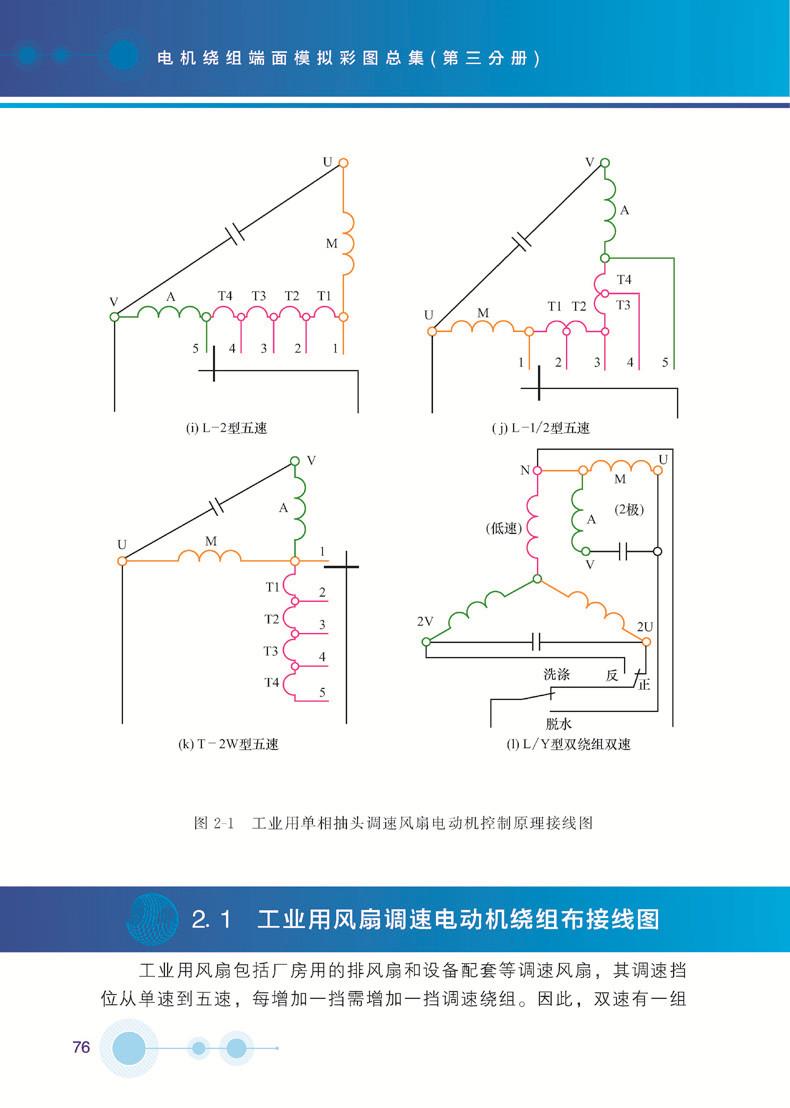 2双速风扇电动机抽头调速绕组布接线图18 1.2.