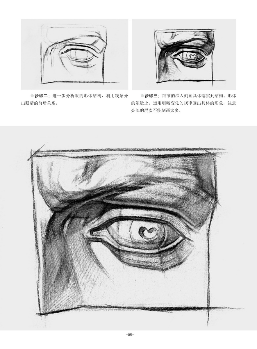 第五章 石膏五官画法详解  眼睛(结构素描)  鼻子(结构素描)  嘴巴