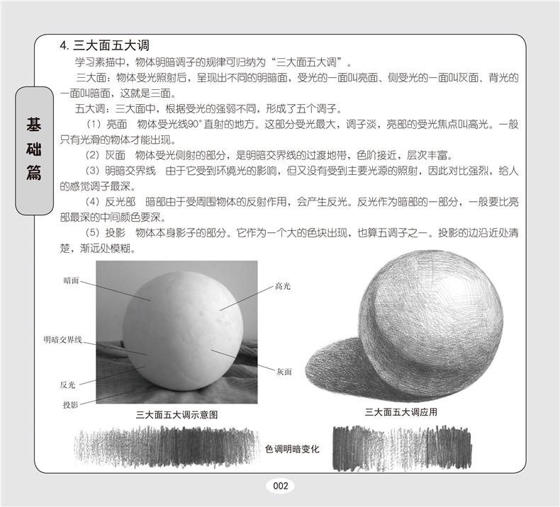 圆柱体的画法007 5. 圆锥体的画法008 6. 球体的画法 009 书摘插画