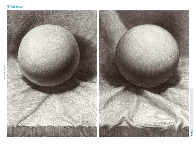圆球体结构素描步骤图