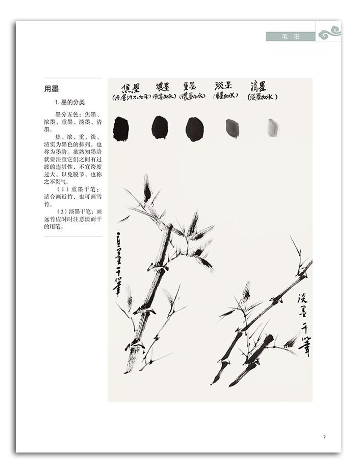 中国画竹子步骤